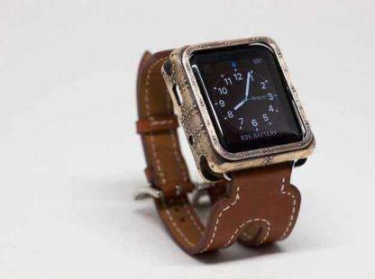 Boitier métal style Steampunk pour Apple Watch
