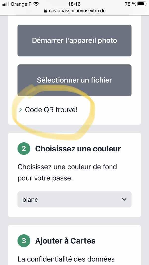 QR-code trouvé